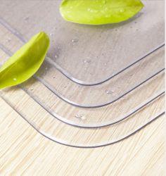 غطاء بلاستيكي بلاستيكي شفاف من مادة PVC (الدائرة الظاهرية الدائمة) وقماش زجاج بلاستيكي ناعم ومقاوم للماء ومادة مقاومة للماء بالزيت سجادة طاولة قهوة يمكن التخلص منها