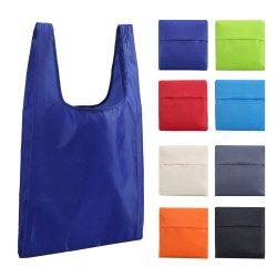Polyester Sacoche réutilisable Sac shopping pliable avec logo d'impression