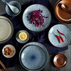 Jabón de cerámica de estilo japonés de la placa Ensaladera fideos