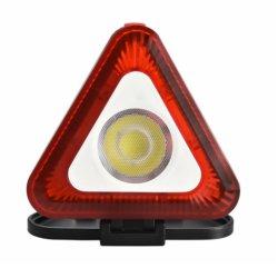 مصباح عمل LED محمول مع مصباح تحذير الطوارئ Triangle، مصباح LED الخارجي القابل للطي، لمخيّم، المشي لمسافات طويلة، إصلاح السيارات، مقاومة لأمطير الطقس