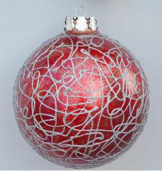 Artesanía en vidrio Ornamento de Navidad