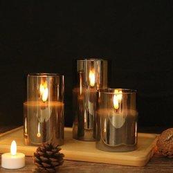 유리 튜브 LED 촉광 세트, 3D 불꽃 표시