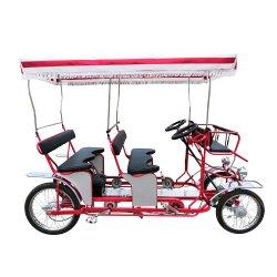 핫 셀링 전기 페달 4륜 바이크 서리 관광 4 좌석 자전거