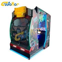 Het Ontspruiten van de Simulator van de arcade Spel met de Dynamische het Ontspruiten van de Opdringer van het Muntstuk van Jurassic Park van de Zetel het Ontspruiten van het Kanon van de Laser van de Arcade van de Machine van het Spel van het Kanon Machine van het Videospelletje van het Doel