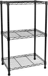 Lavandaria ajustável de banho Cozinha Estantes de fio de metal Rack de armazenamento
