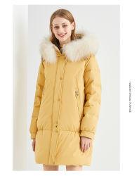Waterbestendig geïsoleerd Winter Down Jack, lange jas voor dames in de winter