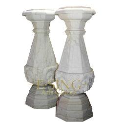 Venda a quente lado entalhado nova chegada melhor Manufatura pequenos elementos decorativos do pilar de Mármore