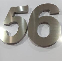 Fabricados em aço inoxidável de alta qualidade 3D Casa Número de parede exterior