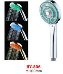 Handdusche-Kopf der Farben-Hy-806 drei des Temperaturregler-LED