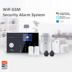 도난 방지 와이파이 무선 침입자 집 보안 GSM 경보 지원 Alexa