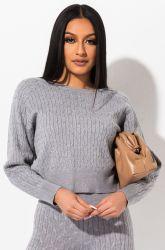 숙녀 형식 한밤중 긴 소매 스웨터 잠옷