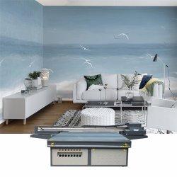 Ntek 큰 체재 벽지를 인쇄하는 UV 디지털 평상형 트레일러 인쇄 기계