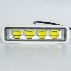 6 pulgadas de la barra de luz LED de inundación de las luces de barco de 72W Deck Dock luces marinas
