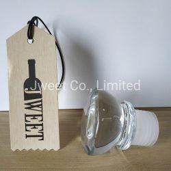Botella de vino al por mayor de la tapa de cristal de vidrio tapón de corcho