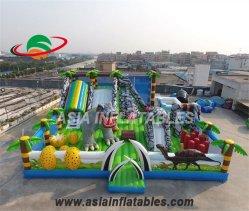 Campo da giuoco di salto gonfiabile di divertimento dell'aria del castello del dinosauro