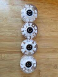 Venda por grosso de PU 4 LED piscando Rodas Flash Ajustável Roda de skate do rolete em linha