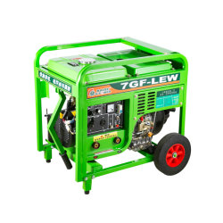 50~220levantar uma potência 2.5Kw com mão empurre duas rodas de grande máquina de solda gerador diesel Shangahi Unidade de finalidade dupla