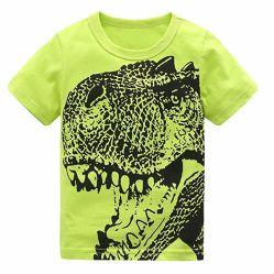 Camicia dei vestiti del bambino del cotone delle magliette del dinosauro dei ragazzi della camicia di Short dell'abito del bambino