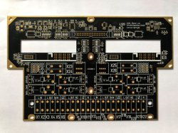 Máscara de Solda preto placa PCB OEM de ouro de imersão de Camada 6