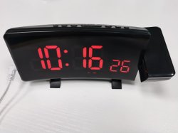 De hete Verkopende Klok van het Bureau van het Alarm van de Projectie met dut de Temperatuur van de Kalender
