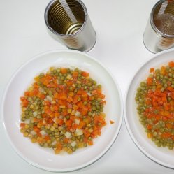 Verdure fresche in scatola verdure miste in scatola con coperchio Easy Open