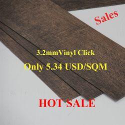 Hot Sale Cheap étanche la surface gaufrée du grain du bois carrelage de sol en vinyle