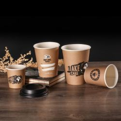 Bamboo Café papier compostable PLA Cup Single / Double paroi