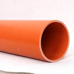 Orange CPVC PVC conduit électrique pour la protection de câble à fibres optiques souterrains