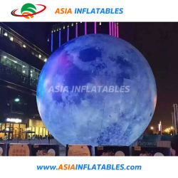 2m Inflatable Globe Printing ballon gonflable de bille de lune