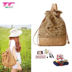 Morecredit stilvolle handgemachte Bali Spitze-Rucksack-Handtaschen für hübschen Lieferanten der Dame-Wholesale Straw Backpack Directly