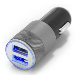 アルミニウム5V 3.1A 2ポートUSB車の充電器の電話アクセサリ