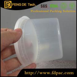 Recipiente de armazenamento de alimentos com tampa de plástico redonda Deli Cup, Lancheira esterilizado, Sopa clara de plástico PP COPA com tampa transparente