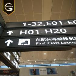 O Aeroporto de arquitectura exterior LED Sentido Interior Boards Caixa de Luz de Sinalização/Aeroporto de projeto de sinalização para pontos-0411