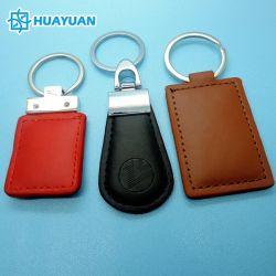 Het aangepaste Slimme RFID Leer Zonder contact van het Toegangsbeheer 125kHz 13.56MHz Keychain