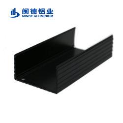 Хорошее соотношение цена индивидуального прямоугольник/раунда/ C/U канал/Silvery формы Черный анодированный алюминиевый сплав профиль для теплоотвода и радиатора