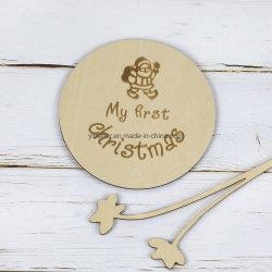 아기 마일스톤 카드 나무로 되는 월별 아기 사진 프로프, 유아용 샤워 기프트, 마일스톤 블록, 나무 마일스톤 플라크, 마일스톤 번호