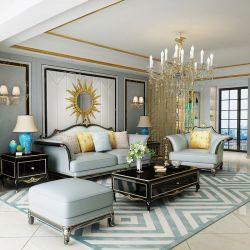 Гостиная с кожаными стульями Османской для домашней мебели (156A)