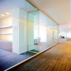 Perfil de aluminio Shaneok Cristal Mampara de Oficina