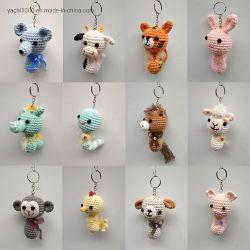 Comercio al por mayor Custom Zodíaco chino de juguete de Regalo de tejidos de animales Llavero Niño juguete
