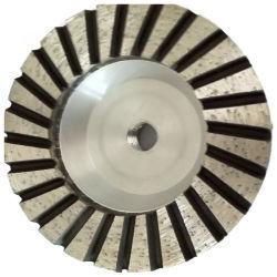 Base de alumínio diamante Turbo Reta Roda Copa de moagem para betão Pedra
