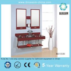 더블 싱크 벽걸이형 유리 세차 베이슨 및 거울(기본소생술-2125)