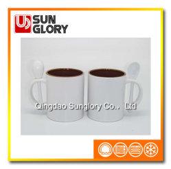 11oz Mug porcelaine émaillée avec cuillère de CHB018