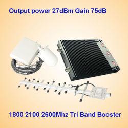 amplificatore cellulare del segnale della tri fascia di 1800MHz 2100MHz 2600MHz