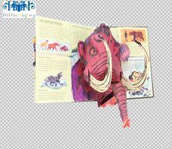 libri dei bambini creativi 3-D del fumetto del popolare, libro a finestra