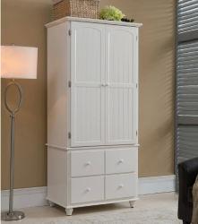 De witte Garderobe van de Stijl van de Kleur Europese die door Stevig Hout (m-X1074) wordt gemaakt