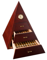 Grau superior Pyramid-Shaped Cigar Humidor