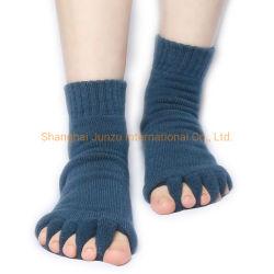 Meias funcionais Pedicure unissexo meias pé massagem dedos do separador de convergência de Liberação Sock alívio da dor SPA Yoga Saúde dormir Cuidado com os Pés Relaxante meia de compressão