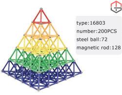 4 Typen magnetische Gebäude-Stöcke und Kugel-magnetischer Baustein-Magnet-pädagogische Spielwaren-Stöcke, welche die Spielwaren eingestellt stapeln