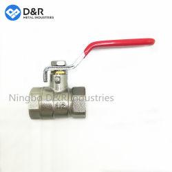 Китай поставщика Чжецзян низкая цена никелированный латунный поддельных шарового клапана с помощью рукоятки рычага переключения передач