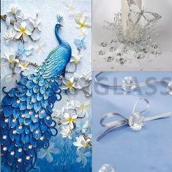 卸売によって着色される結婚の在庫基準表のセンターピースのアクリルのダイヤモンド、装飾